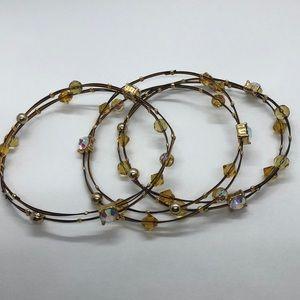 Wire Wrap Bangle Stackable Bracelet
